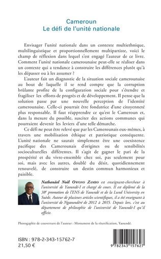 4eme Cameroun le défi de l'unité nationale