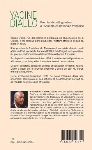 4eme Yacine Diallo premier député guinéen à l'Assemblé nationale française