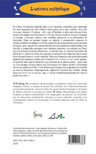 4eme La pensée musicale de Jean-Jacques Rousseau en Chine
