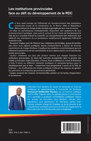 4eme Les institutions provinciales face au défi du développement de la RDC