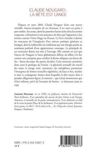 4eme Claude Nougaro : la bête est l'ange