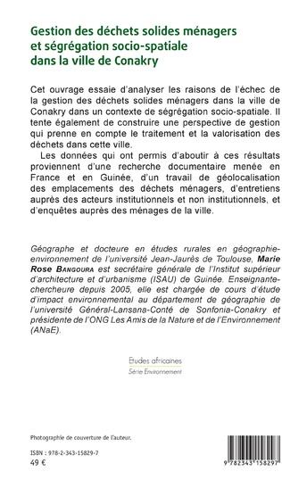 4eme Gestion des déchets solides ménagers et ségrégation socio-spatiale dans la ville de Conakry
