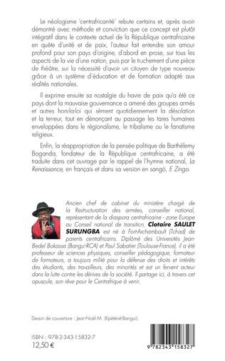 4eme La centrafricanité, antidote de la crise