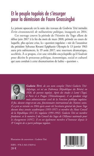 4eme Et le peuple togolais de s'insurger pour la démission de Faure Gnassingbé