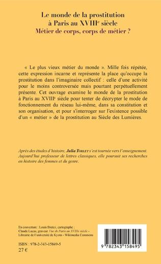 4eme Le monde de la prostitution à Paris au XVIIIe siècle