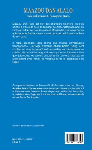 4eme Maazou Dan Alalo. Poète oral haoussa du Damagaram (Niger)