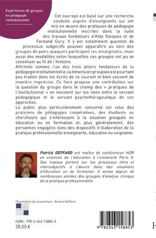 4eme Expériences de groupes en pédagogie instituonnelle