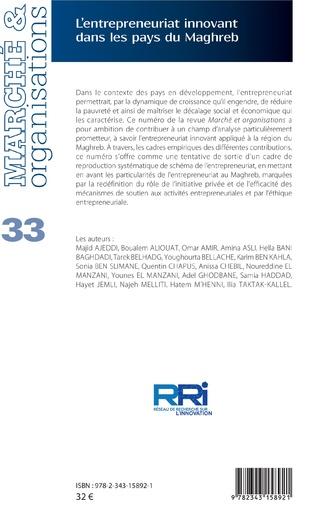 4eme L'entrepreneuriat innovant dans les pays du Maghreb