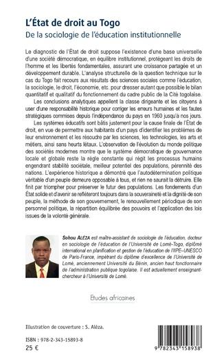 4eme L'état de droit au Togo