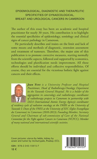 4eme Epidemiological, diagnostic and therapeutic specificities of gynaecological, breast and urological cancers in Cameroon