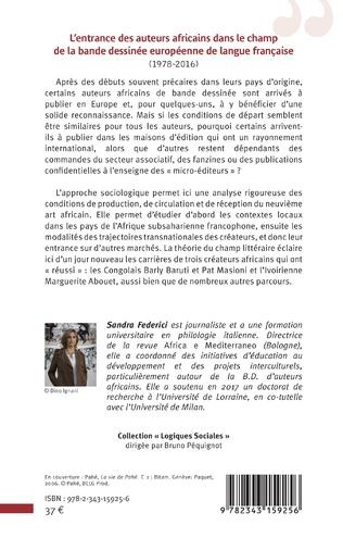 4eme L'entrance des auteurs africains dans le champ de la bande dessinée européenne de la langue française