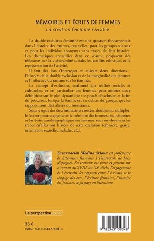4eme Mémoires et écrits de femmes