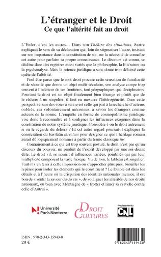 4eme L'étranger et le Droit