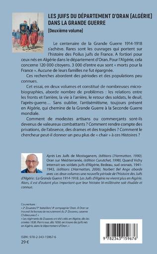 4eme Les Juifs du département d'Oran (Algérie) dans la Grande guerre