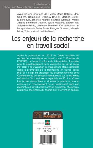 4eme Les enjeux de la recherche en travail social