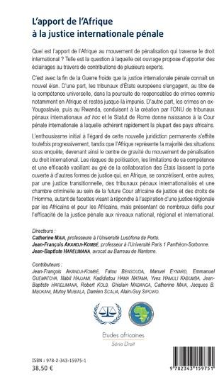 4eme L'apport de l'Afrique à la justice internationale pénale