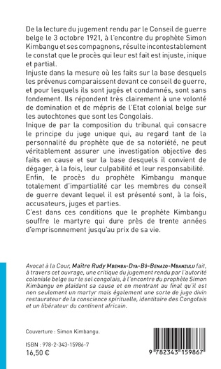 4eme Le procès de Simon Kimbangu