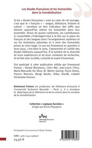 4eme Les études françaises et les humanités dans la mondialisation
