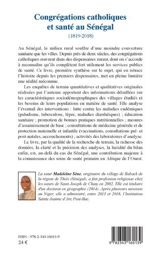 4eme Congrégations catholiques et santé au Sénégal (1819-2018)