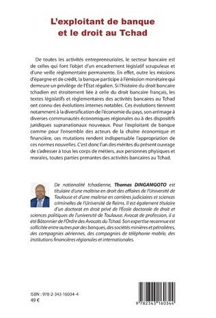 4eme L'exploitant de banque et le droit au Tchad