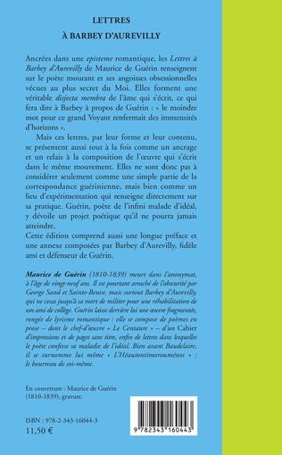4eme Lettres à Barbey d'Aurevilly