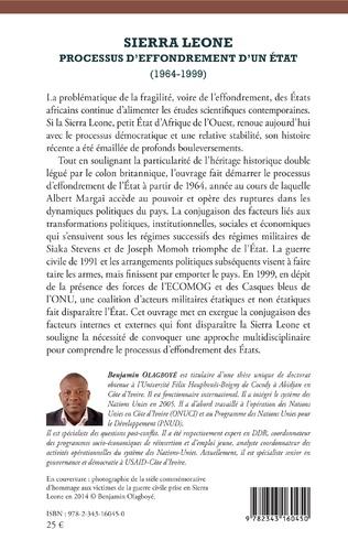 4eme Sierra Leone processus d'effondrement d'un état (1964-1999)
