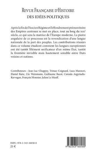 4eme Langues et nations au XIXe siècle