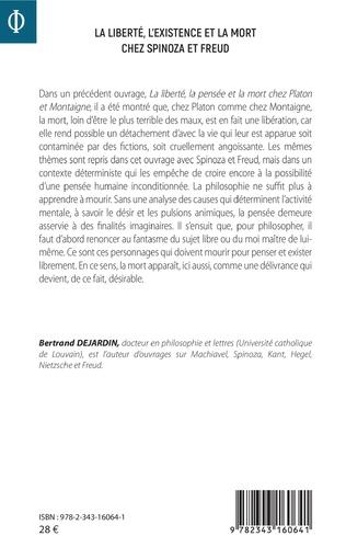 4eme La liberté, l'existence et la mort chez Spinoza et Freud
