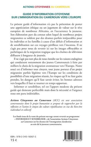 4eme Guide d'information citoyenne sur l'immigration du Cameroun vers l'Europe