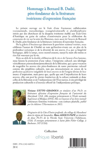 4eme Hommage à Bernard B. Dadié, père-fondateur de la littérature ivoirienne d'expression française