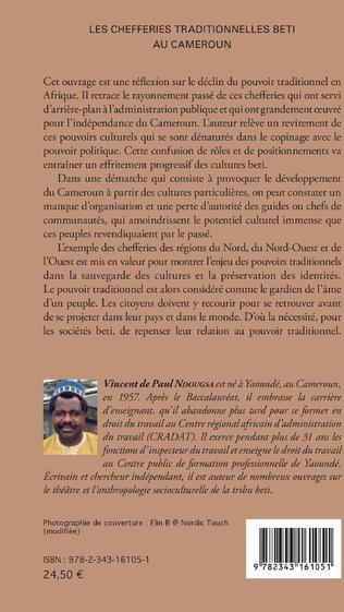 4eme Les chefferies traditionnelles Beti au Cameroun