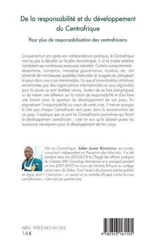 4eme De la responsabilité et du développement du Centrafrique