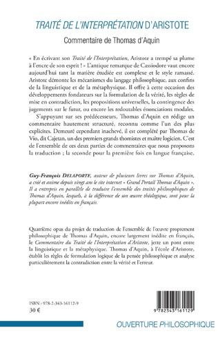 4eme Traité de l'interprétation d'Aristote
