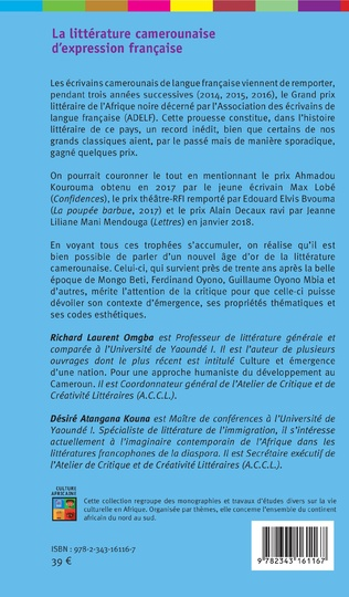 4eme La littérature camerounaise d'expression française