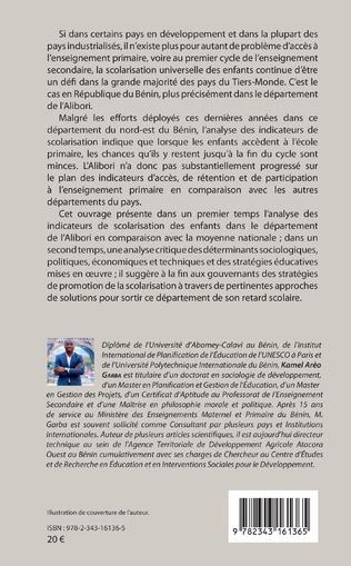 4eme Inégalités d'accès et de rétention des enfants à l'école primaire au Bénin : cas du département de l'Alibori