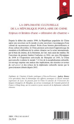 4eme La diplomatie culturelle de la république populaire de Chine