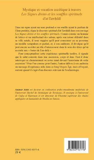 4eme Mystique et vocation ascétique à travers Les signes divins et les souffles spirituels d'at-Tawhîdî