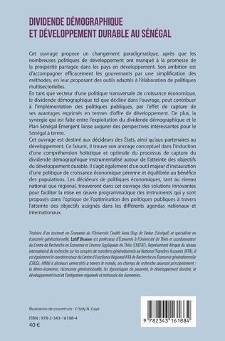 4eme Dividende démographique et développement durable au Sénégal Vol 2