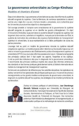4eme La gouvernance universitaire au Congo-Kinshasa