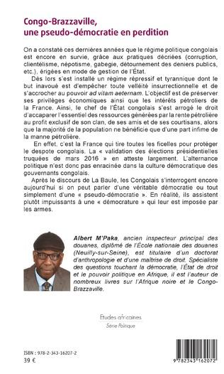 4eme Congo-Brazzaville, une pseudo-démocratie en perdition