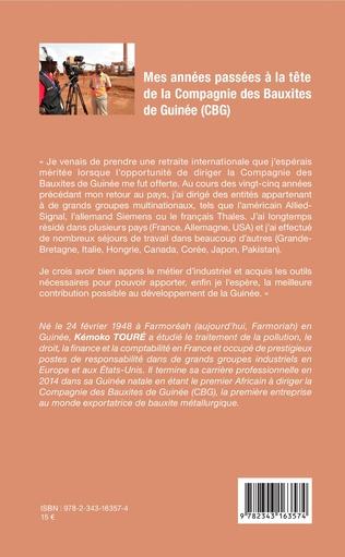 4eme Mes années passées à la tête de la Compagnie des Bauxites de Guinée (CBG)