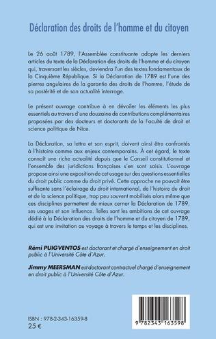 4eme Déclaration des droits de l'homme et du citoyen