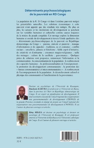 4eme Déterminants psychosociologiques de la pauvreté en RD Congo