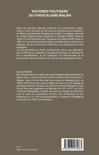 4eme Histoires politiques du syndicalisme malien