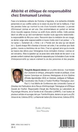 4eme Altérité et éthique de responsabilité chez Emmanuel Levinas