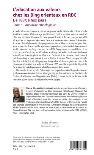 4eme L'éducation aux valeurs chez les Ding orientaux en RDC Tome 1