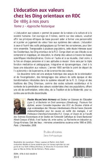 4eme L'éducation aux valeurs chez les Ding orientaux en RDC Tome 2