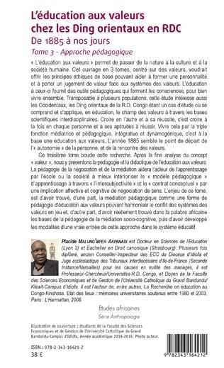 4eme L'éducation aux valeurs chez les Ding orientaux en RDC Tome 3