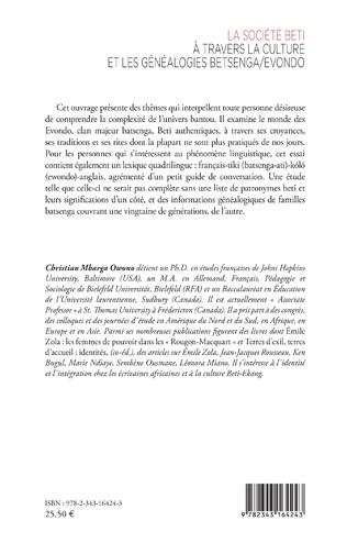 4eme La société Beti à travers la culture et les généalogies Betsenga/Evondo