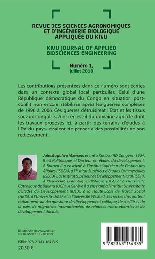 4eme Revue des sciences agronomiques et d'ingénierie biologique appliquée du Kivu